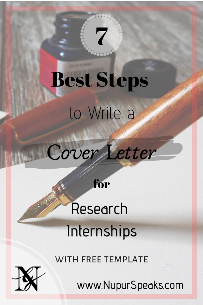 7 Best Steps to Write a Cover Letter for Research Internships
