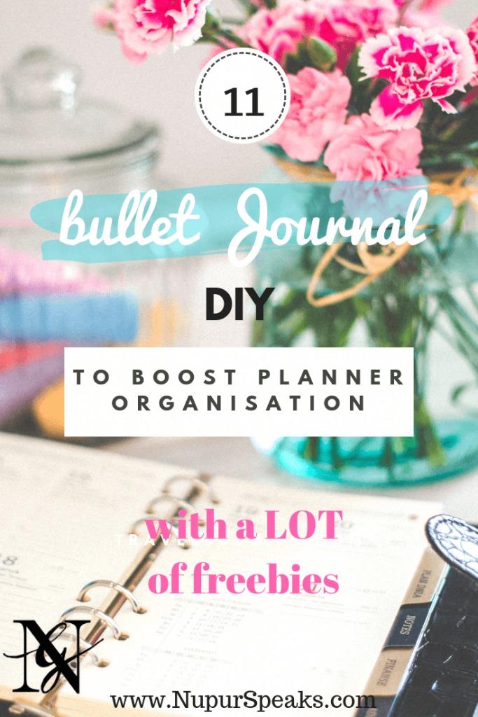 11 Cutest Bullet Journal DIY to Boost Planner Organisation (With Freebies) NupurSpeaks
