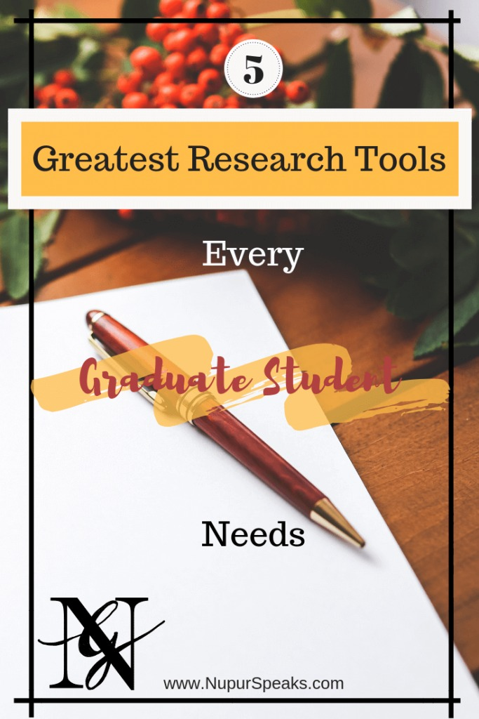 5 Greatest Research Tools Every Graduate Student Needs